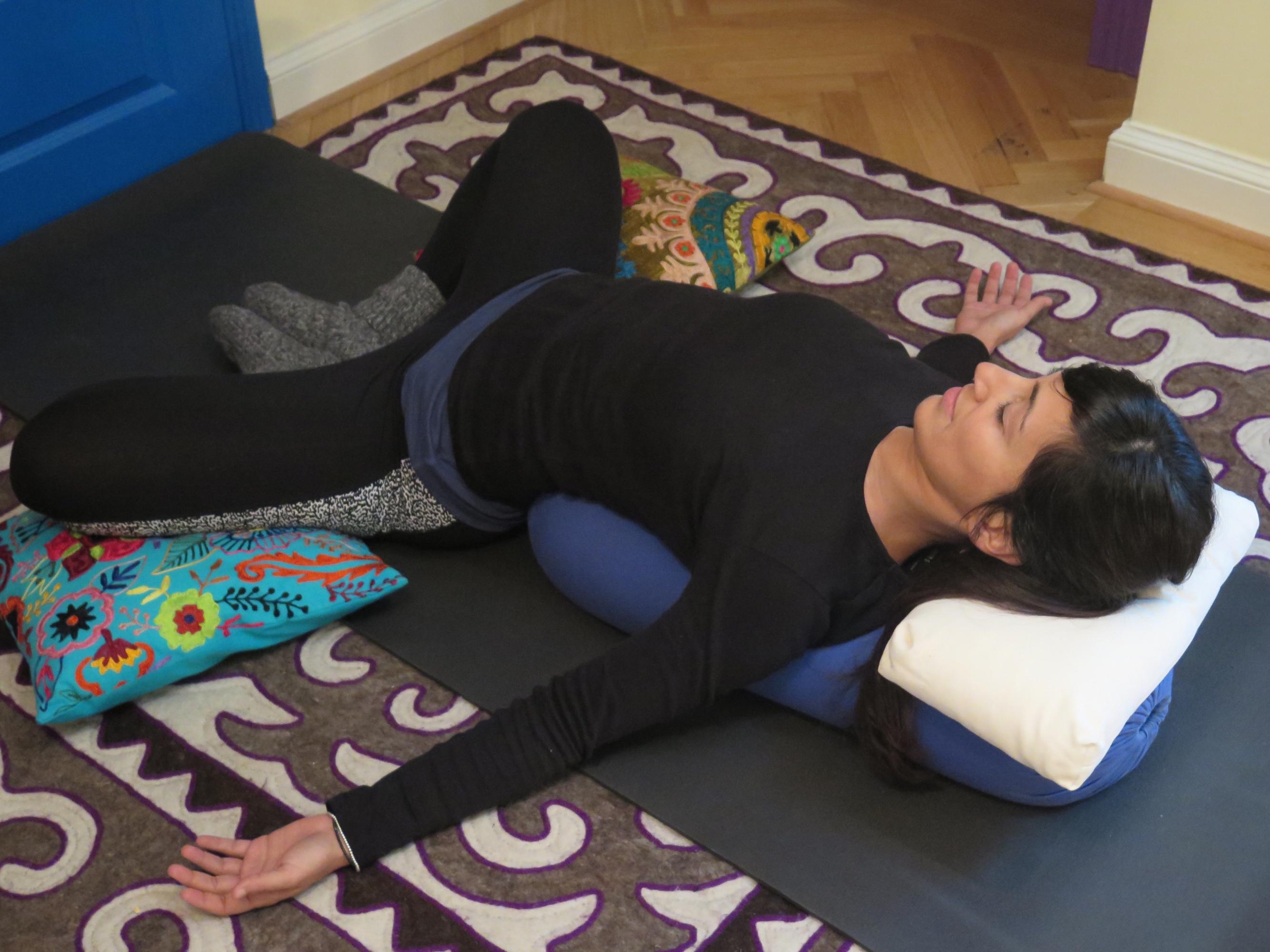 Restorative Yoga- Supta Baddha Konasana
