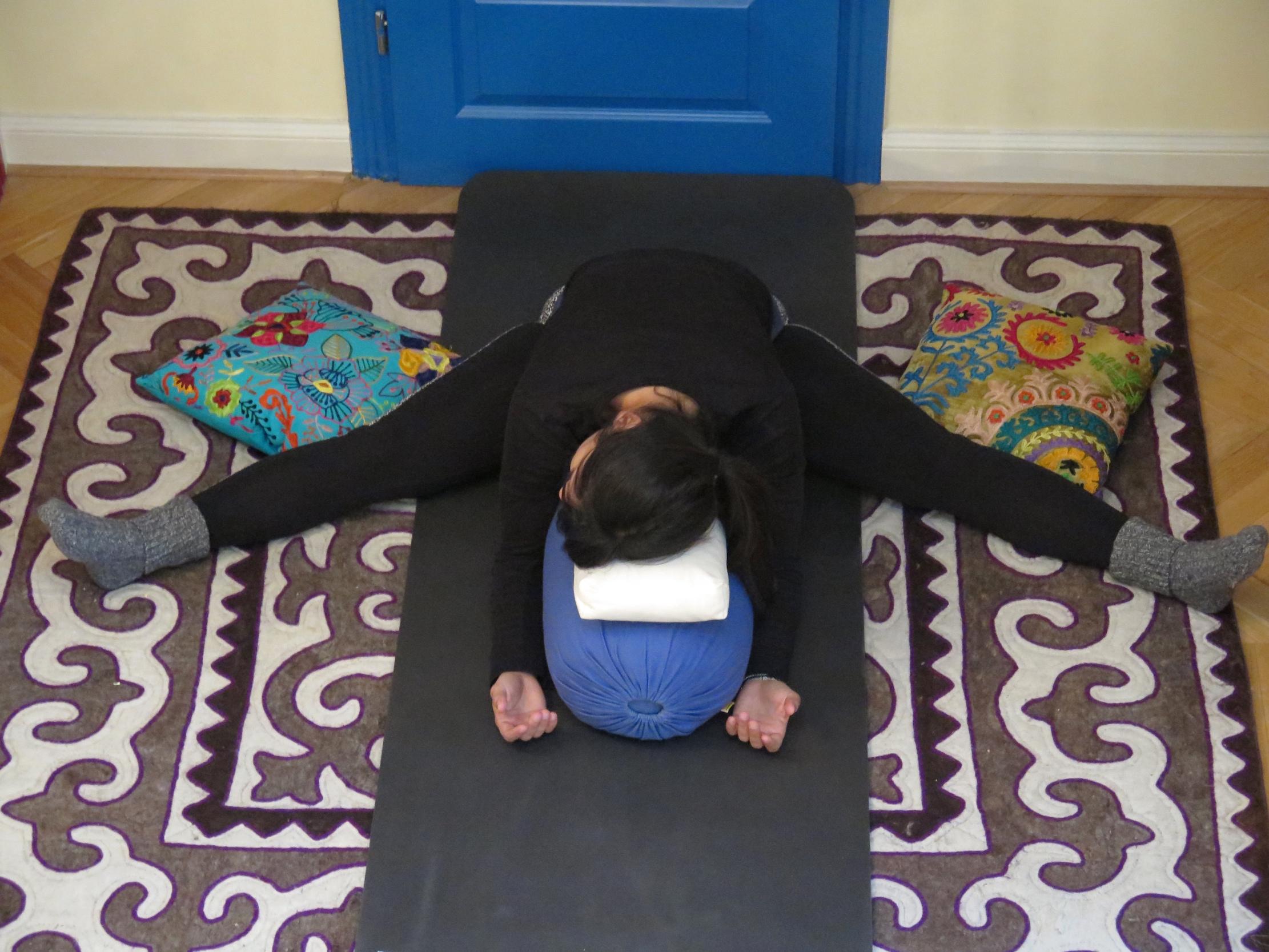 Restorative Yoga- Upavistha Konasana